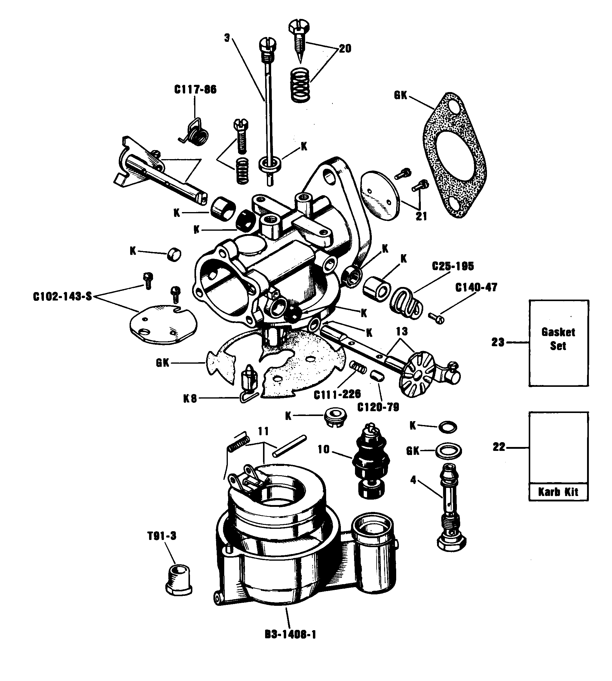 Zenith 13731 Carburetor Kit, FLoat and Manual
